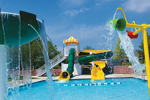 Fun Waterslides at Liberty Athletic Club